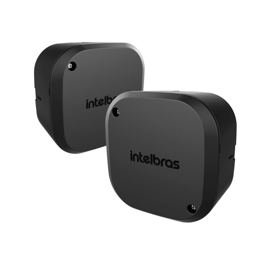 Kit 2 Caixas Passagem Câmera CFTV VBOX 1100 Black Intelbras
