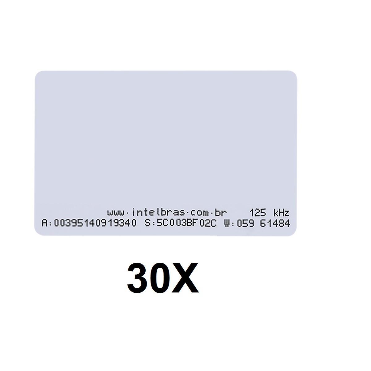 Kit 30 Cartões de Proximidade RFID 125 kHz Intelbras TH 2000