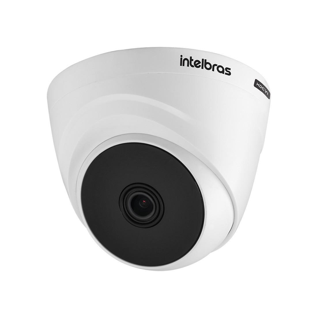 Kit 3 Câmeras de Segurança Dome Intelbras HD VHL 1120 D