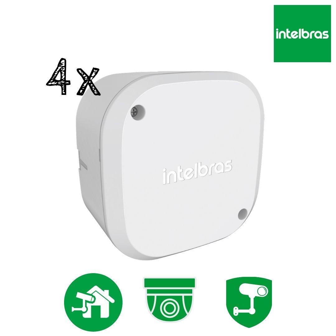 Kit 4 Caixas de Passagem Câmera CFTV VBOX 1100 Intelbras