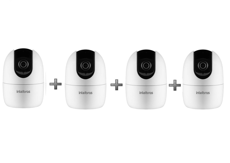 Kit 4 Câmeras IP 360° Wi-Fi Full HD IM4 Mibo Intelbras
