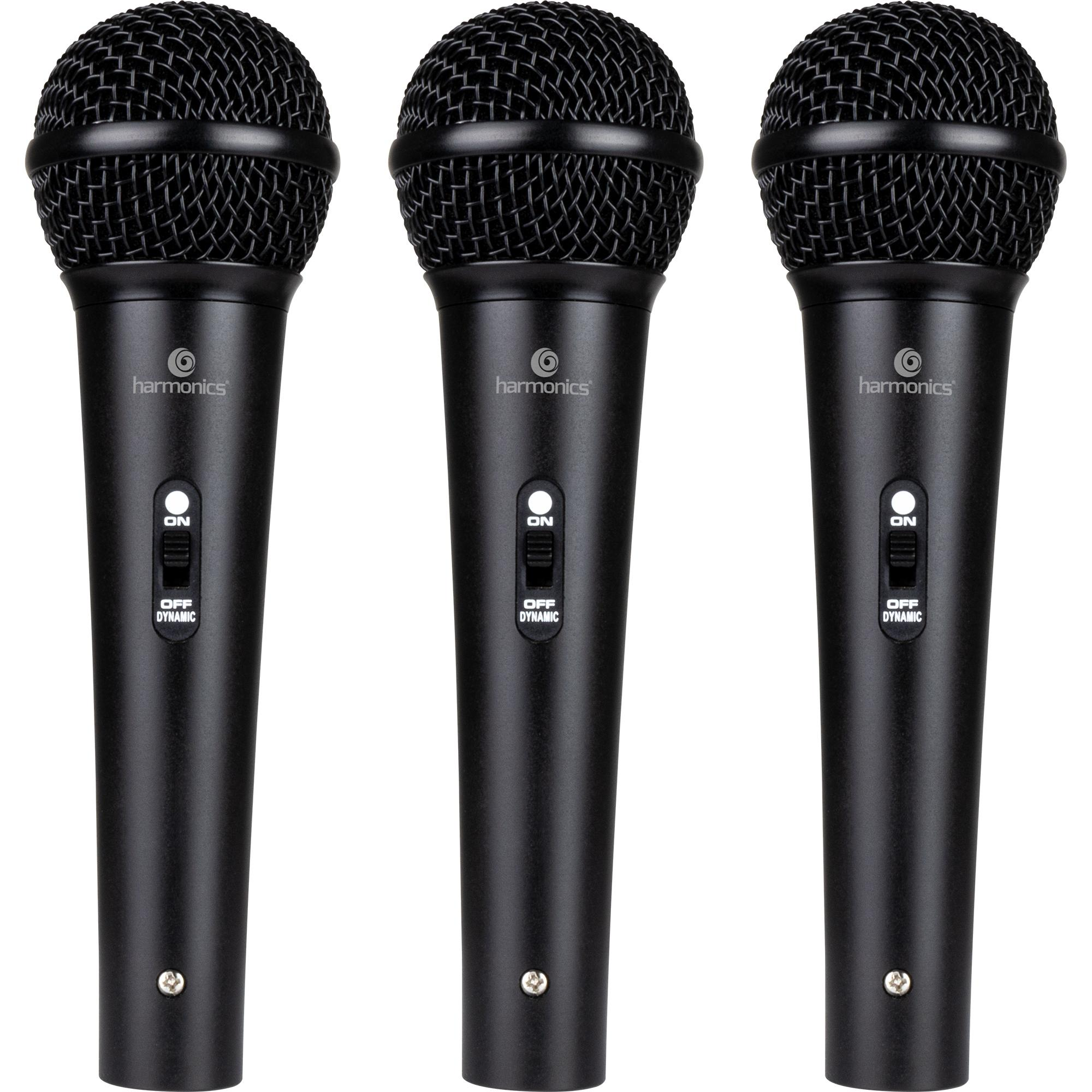 Kit c/ 3 Microfones Dinâmicos Cardióide MDU201 HARMONICS - K
