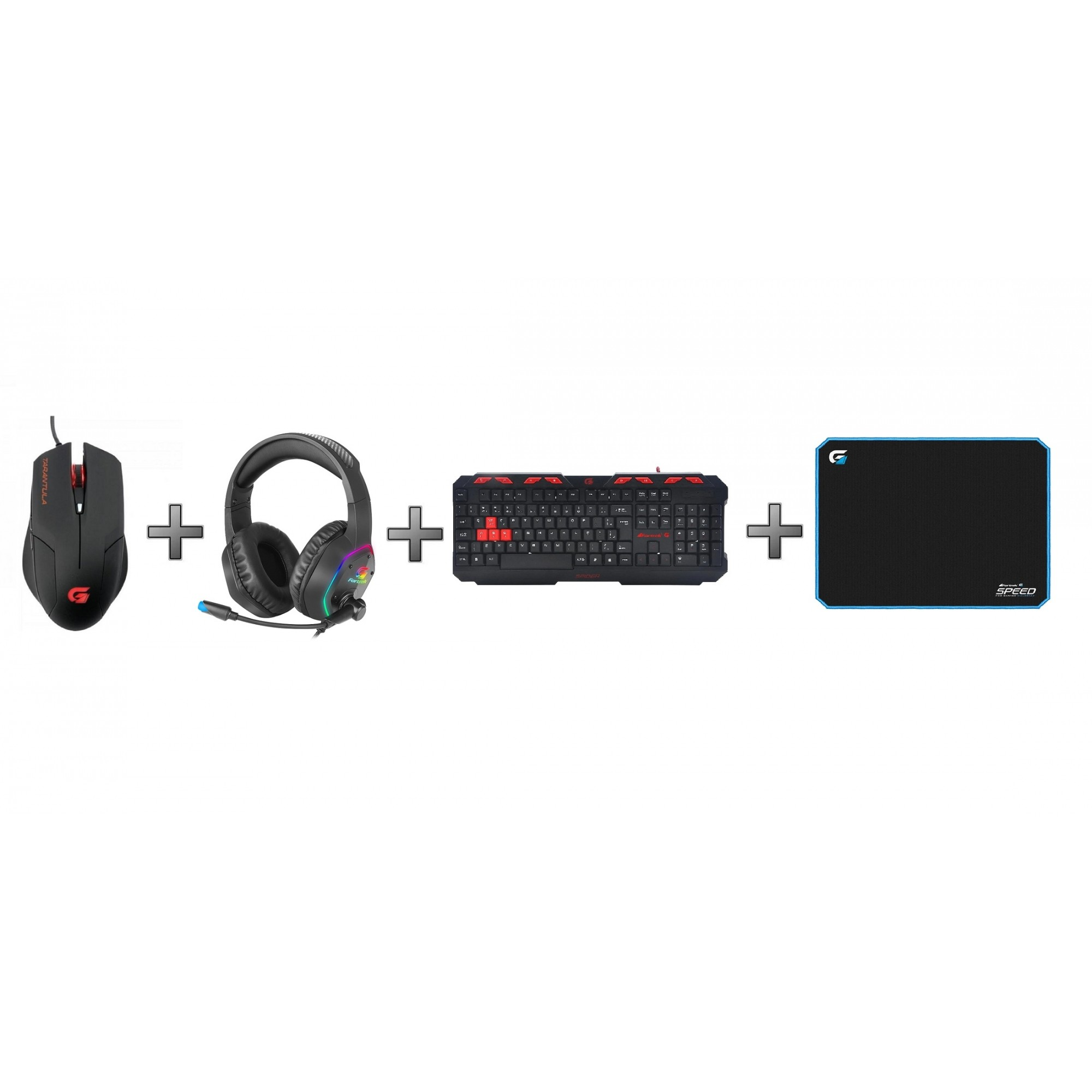 Kit Gamer Mouse + Headset  + Mousepad + Teclado Fortrek