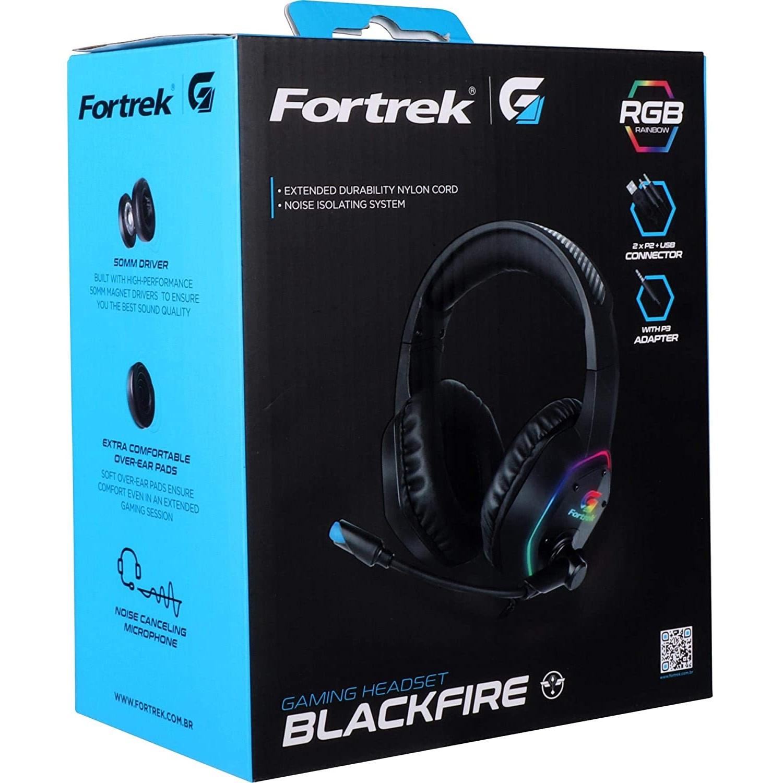 Kit Headset Gamer BlackFire Fortrek + Mouse Raptor Fortrek