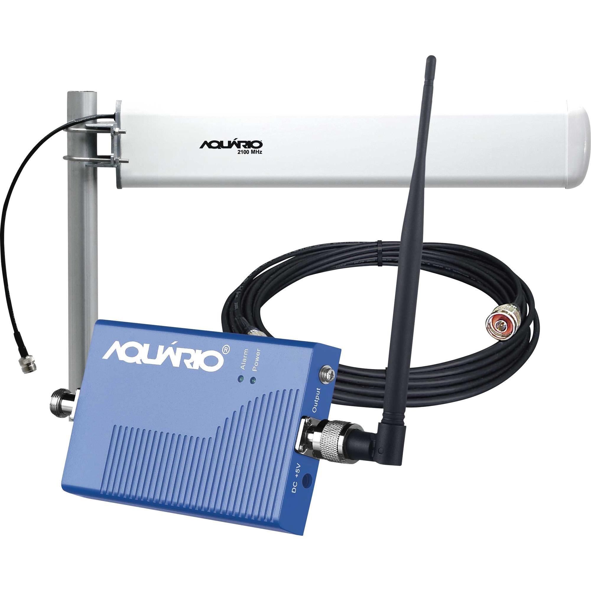 Kit Mini Repetidor Celular 2100MHz RP-2160 Azul AQUÁRIO
