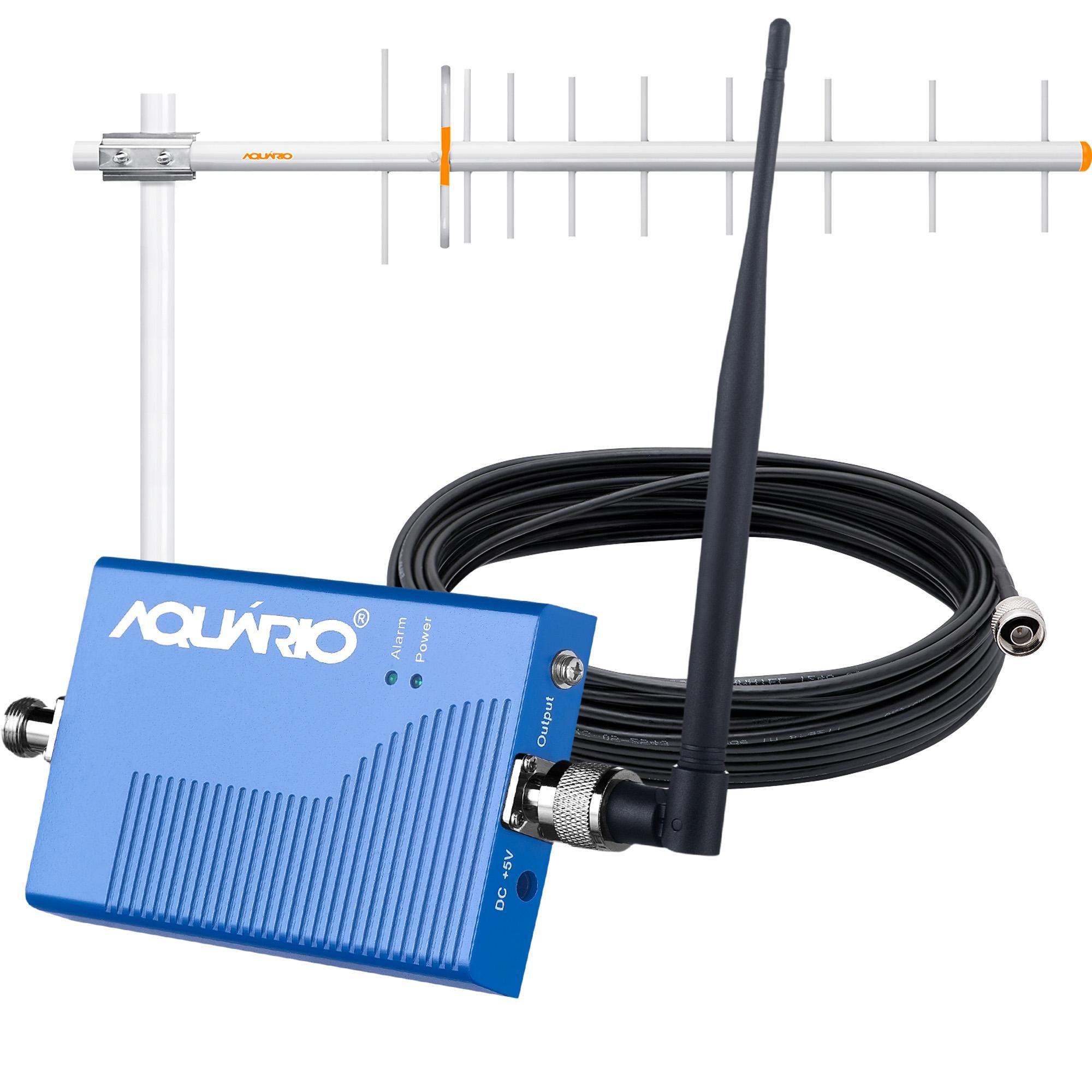 Kit Mini Repetidor de Sinal para Celular 900MHZ RP960 AQUÁRI