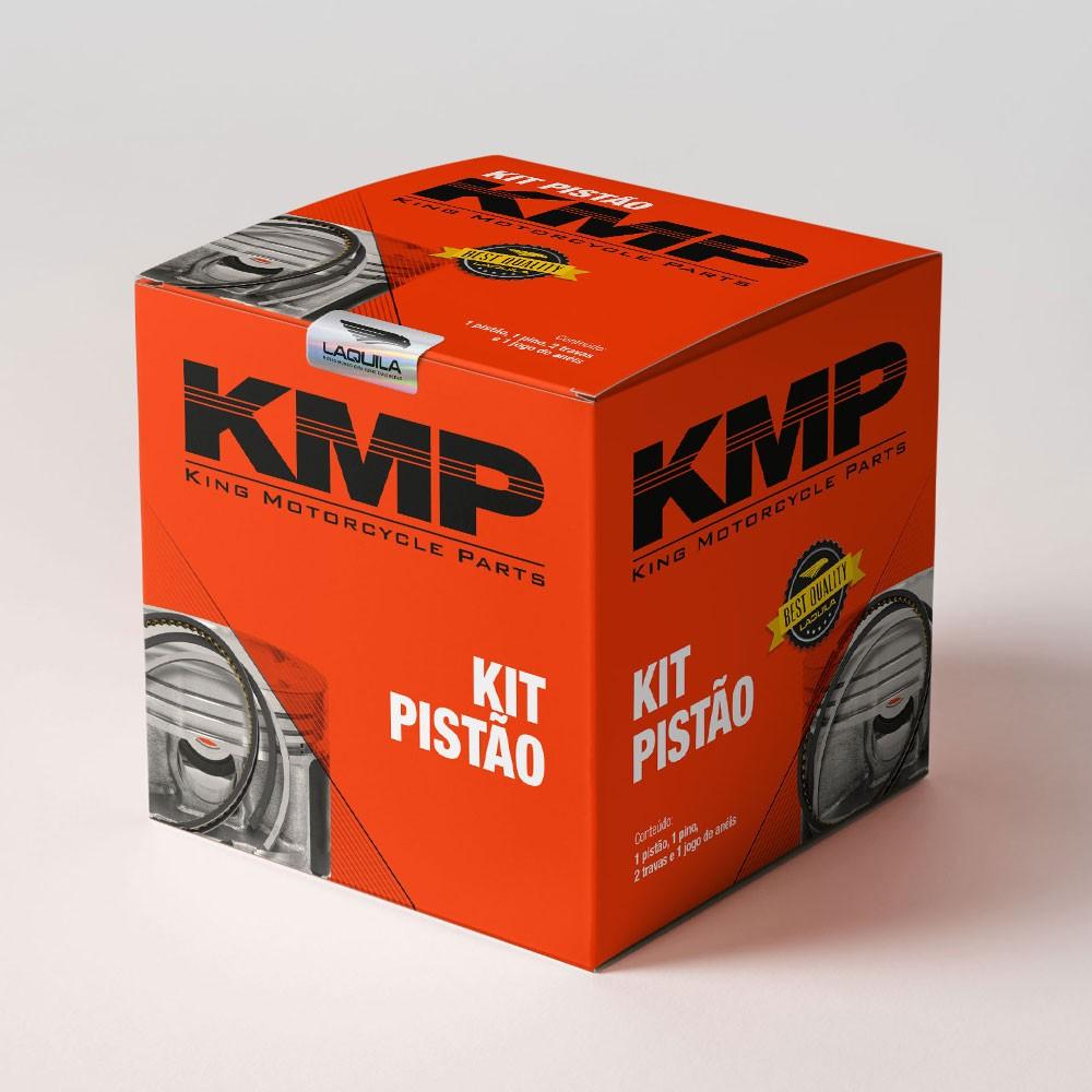 Kit Premium C/Cilindro Pistao Junta Kmp.Anel Rik Cg 125 Aum.