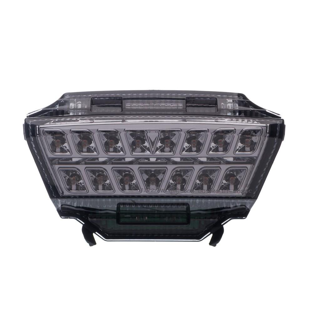 Lanterna Traseira Moto X Em Led Com Piscas Laterais Integrad