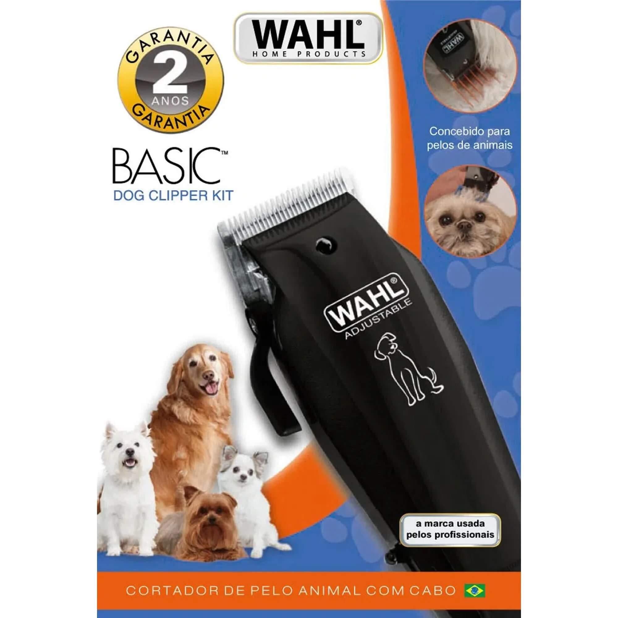 Máquina de Tosa 110V Basic Dog Preta WAHL