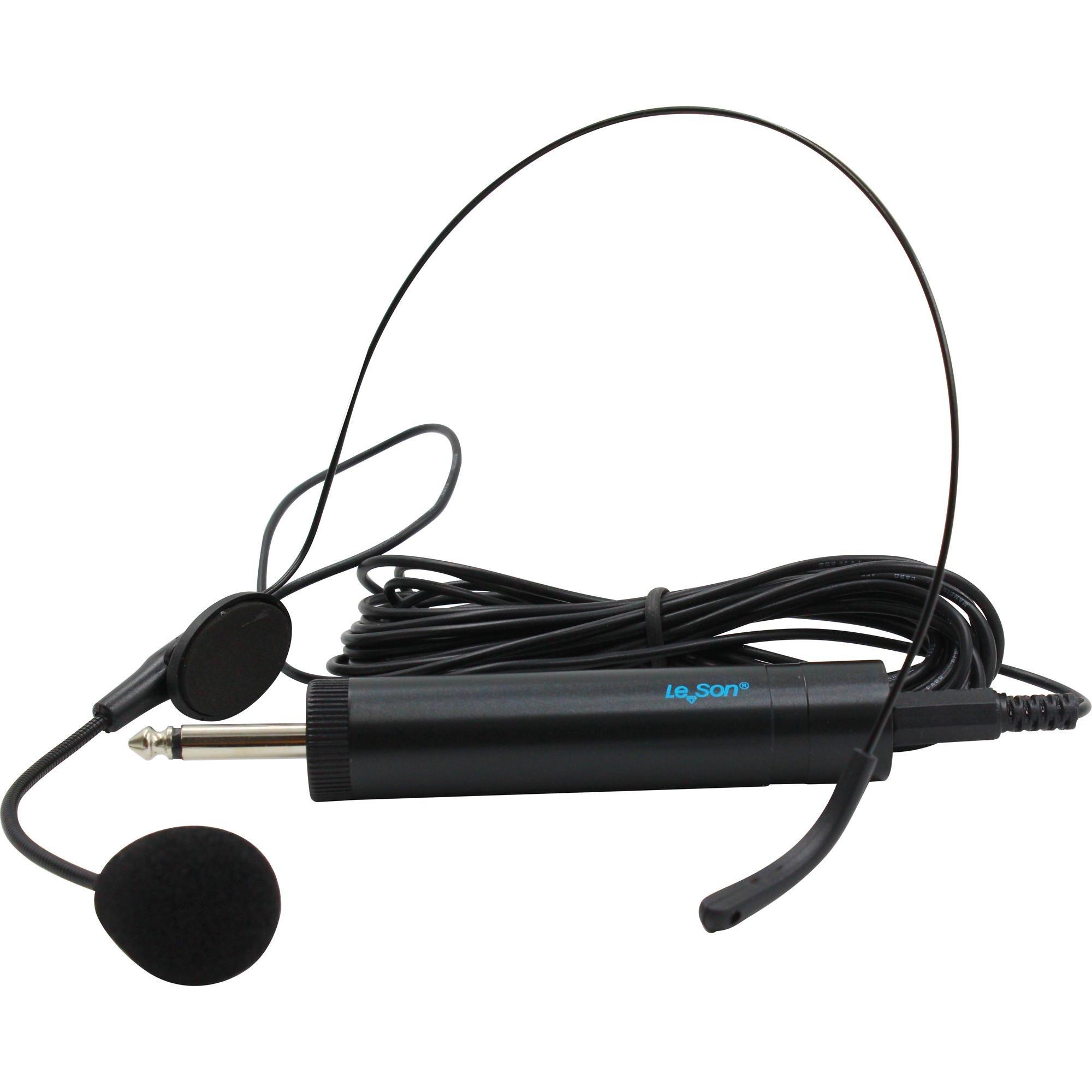 Microfone Headset com Fio HD 750R Preto LESON