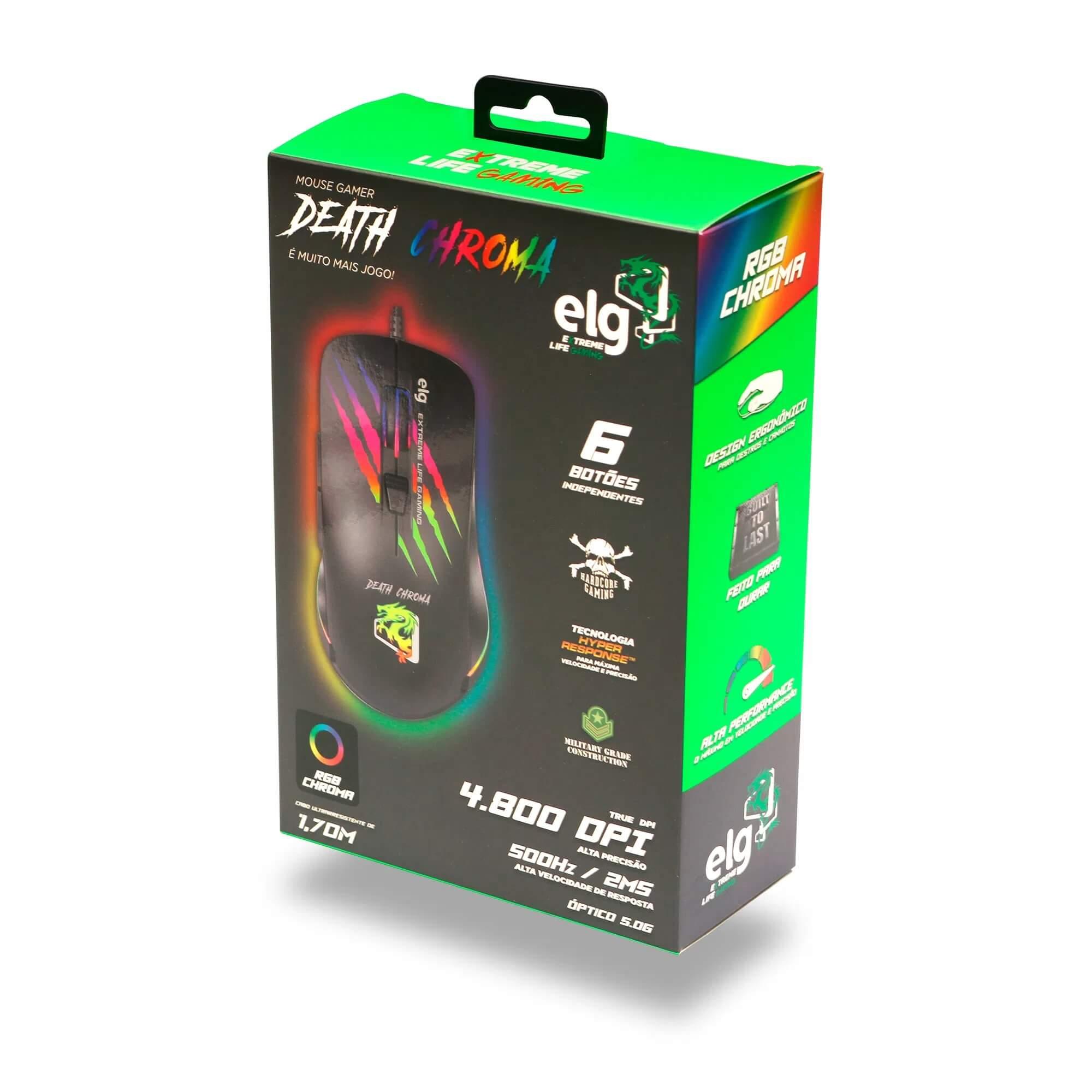 Mouse Gamer Death Chroma 4800DPI ELG MGDC
