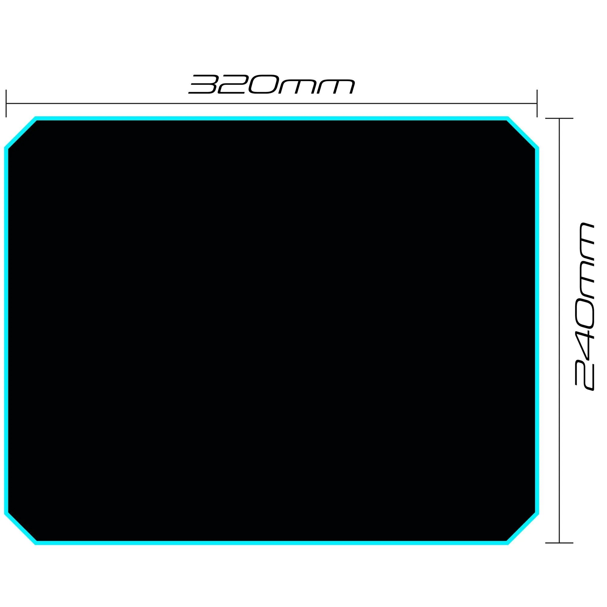 Mouse Pad Gamer 320x240mm Speed Fortrek MPG-101