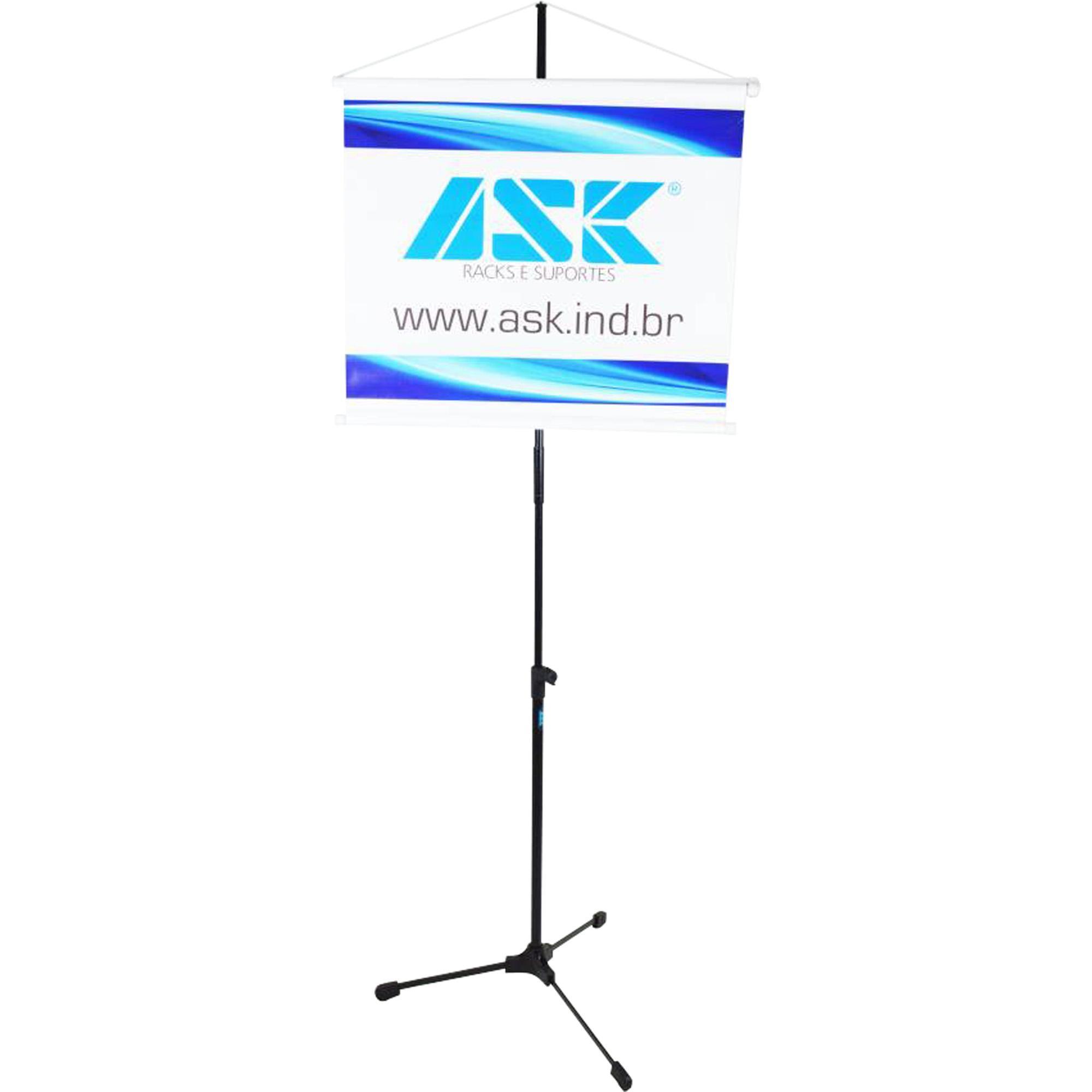 Pedestal Para Banner Com Tripé Retrátil e Extensor Removível