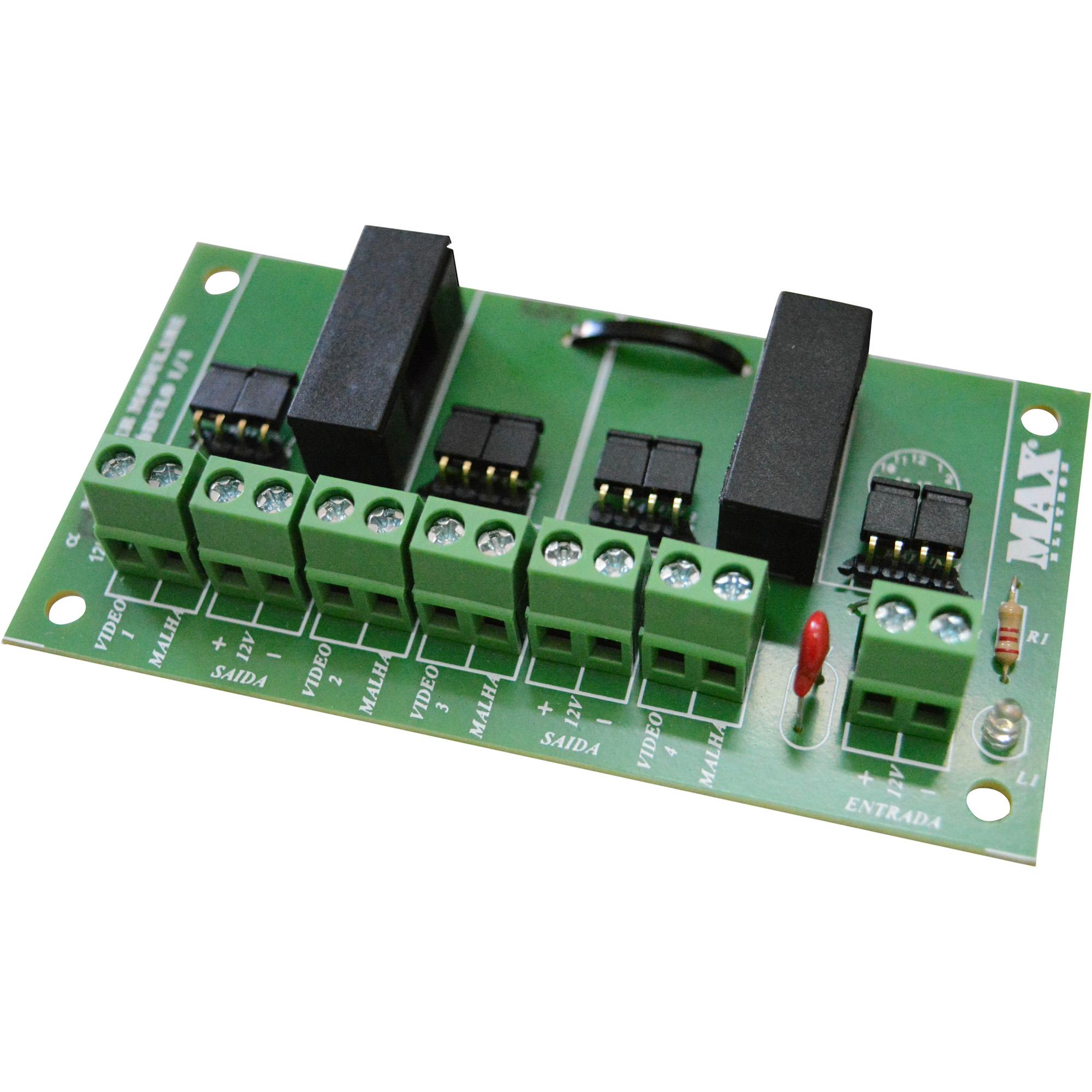 Placa Organizadora 4 Canais Box Light MAX ELETRON