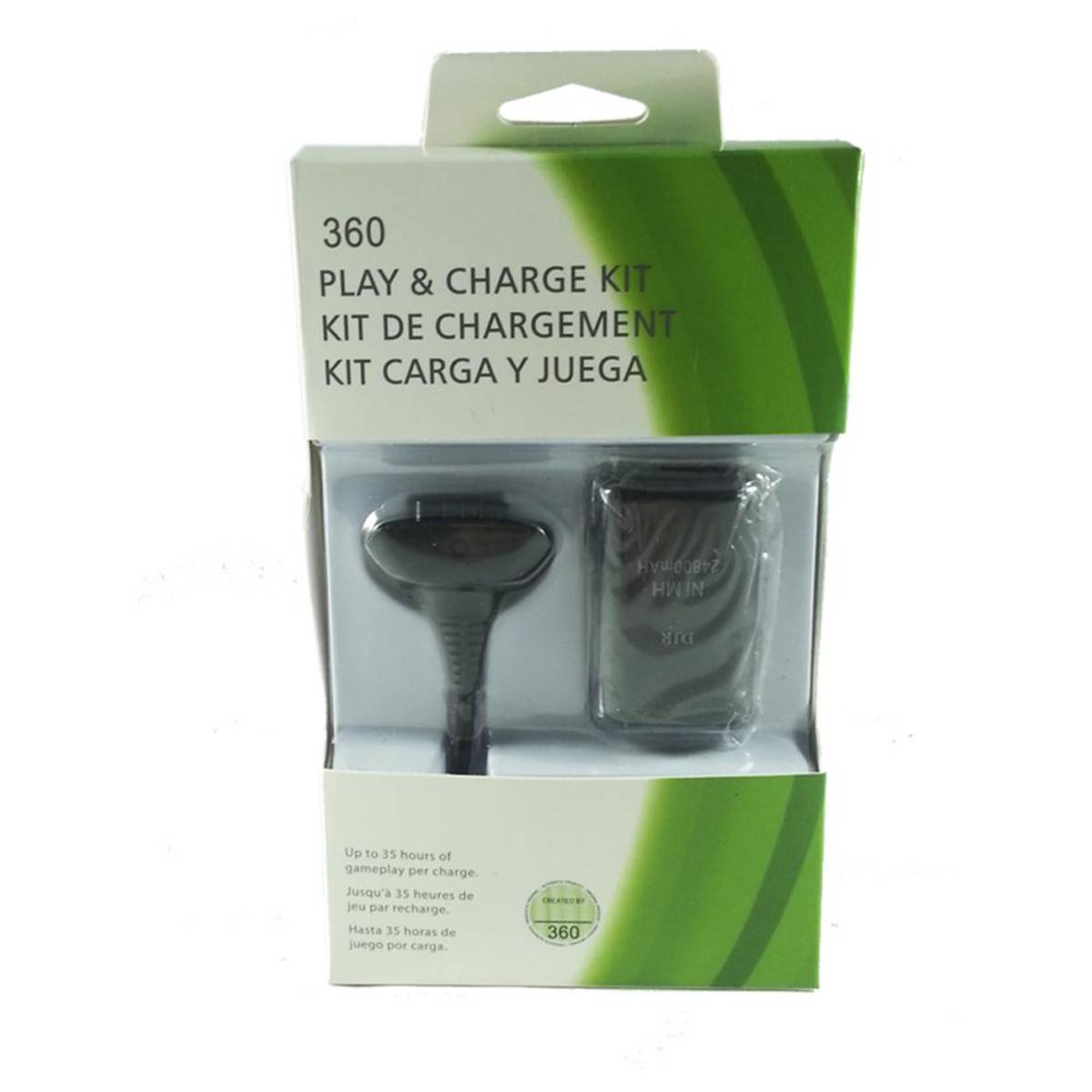 Play Charge Compátivel Xbox 360 Cabo e Bateria
