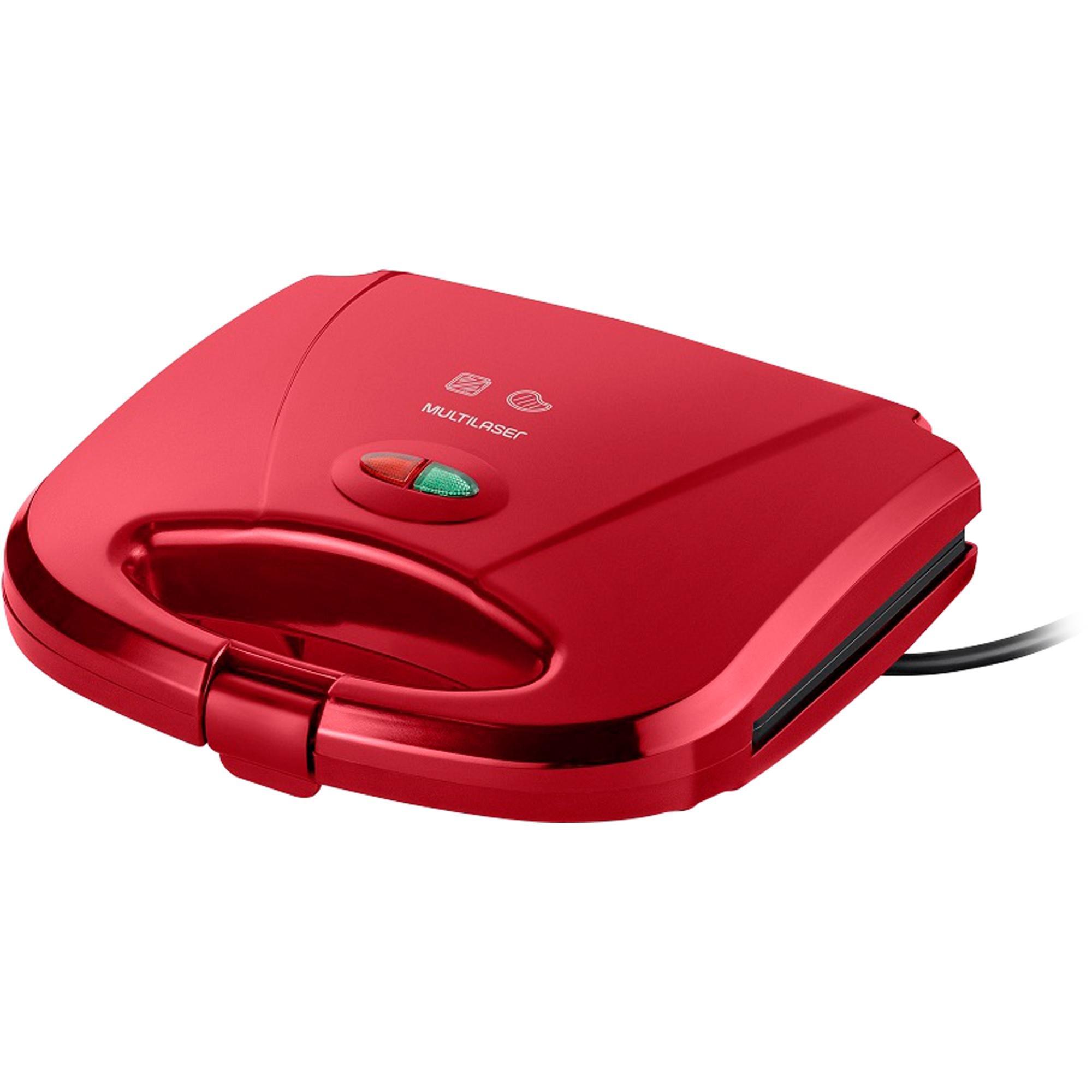 Sanduicheira e Mini Grill 750W 127V CE148 Vermelha MULTILASE