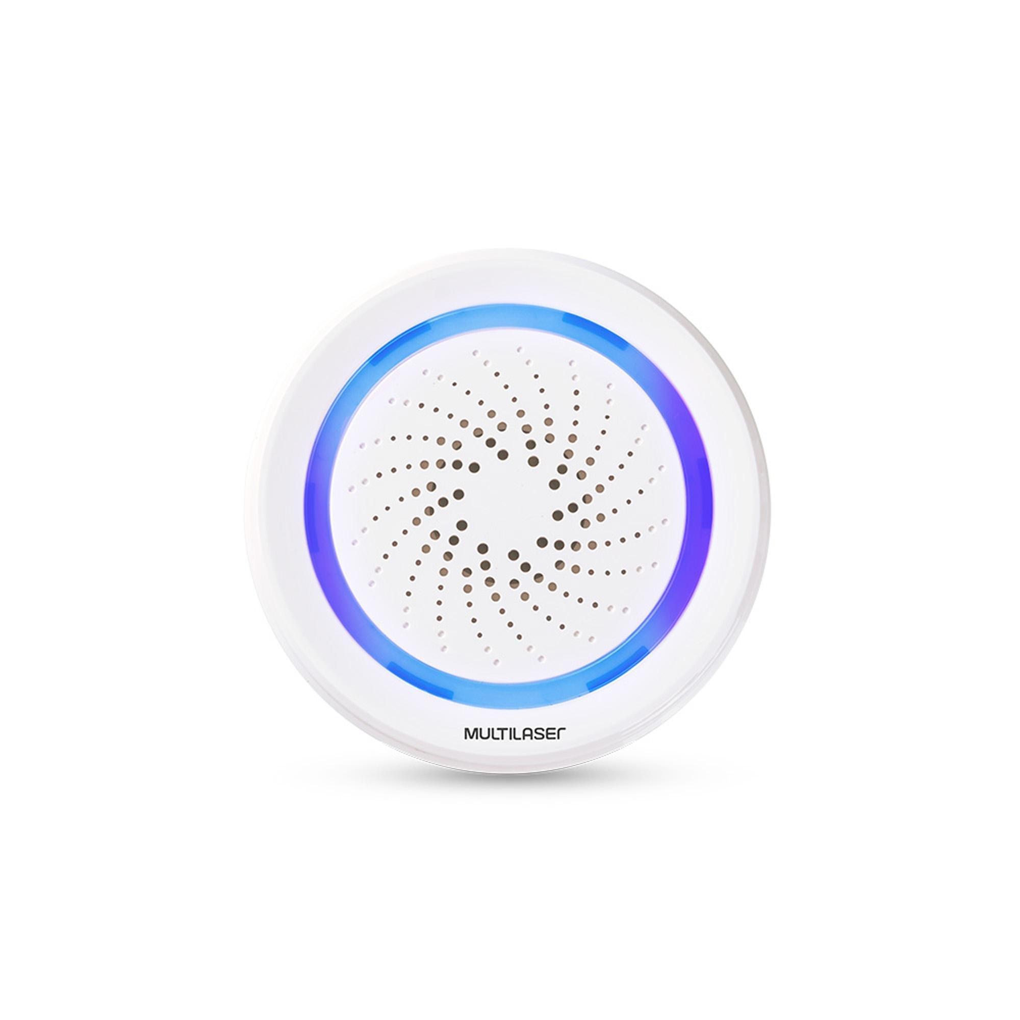 Sirene de Alarme Inteligente Wi-Fi SE232 Branca MULTILASER