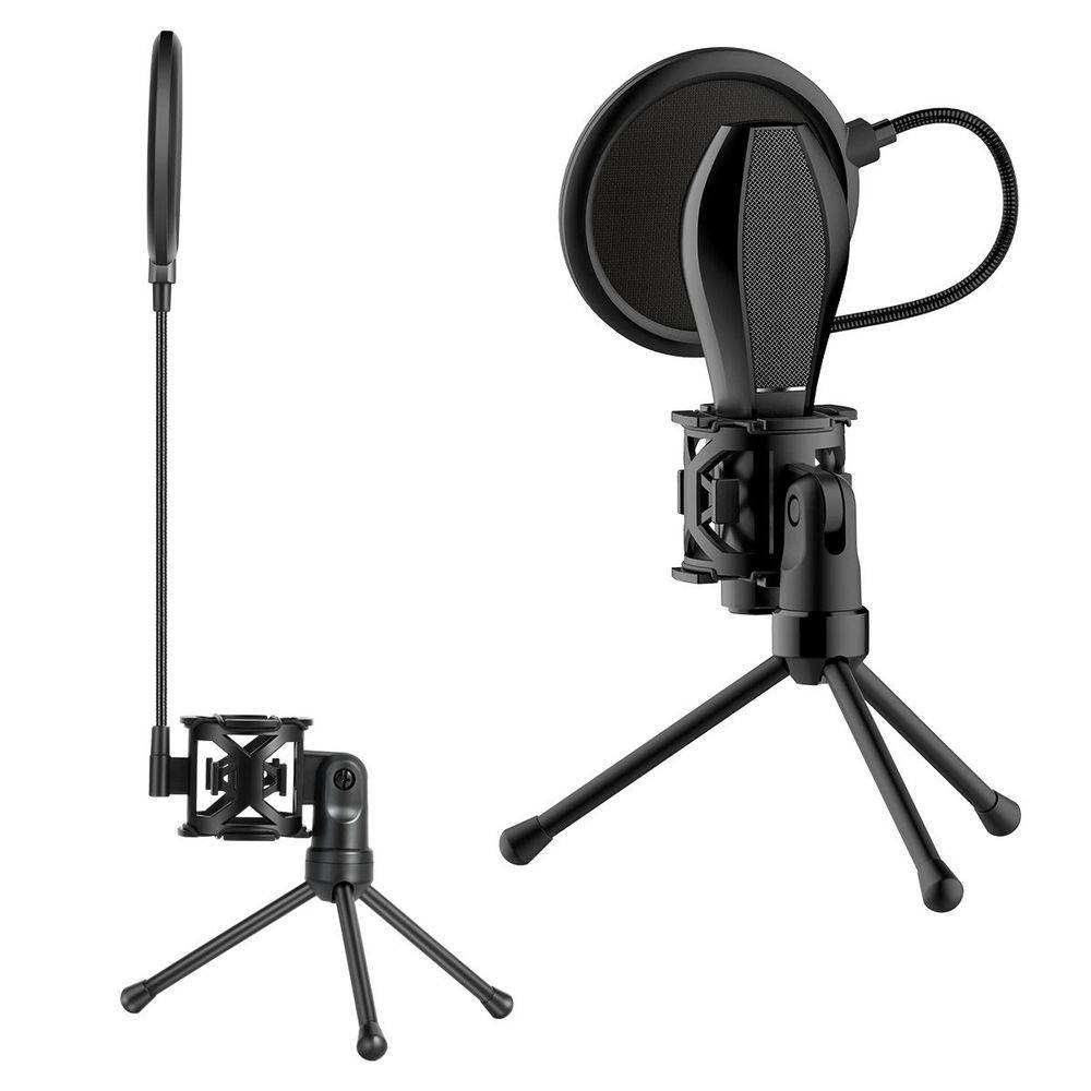Suporte Microfone de Mesa Youtuber c/ Filtro POP Filter Andowl PS-2