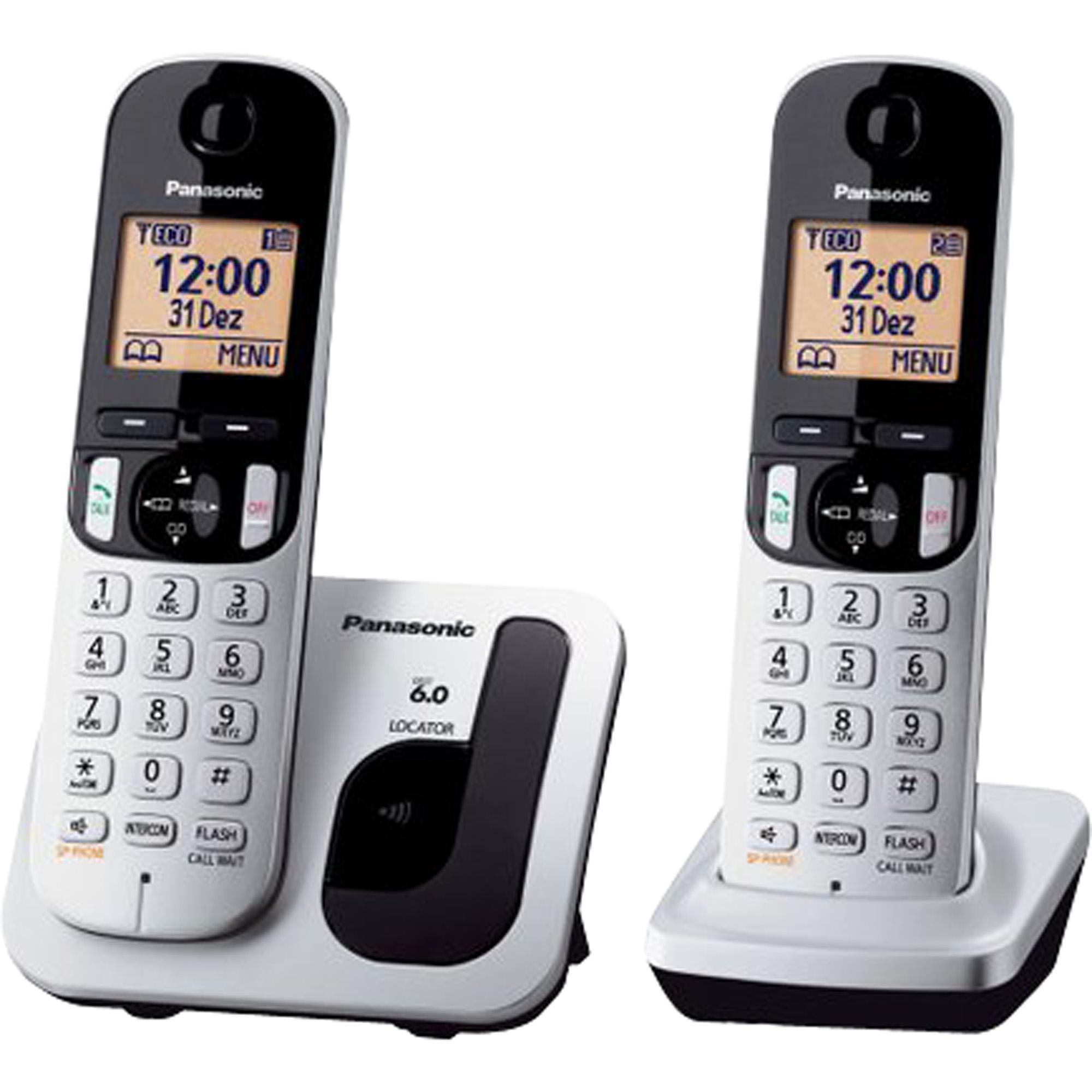 Telefone sem Fio com ID Base + Ramal KX-TGC212LB1 Cinza PANA