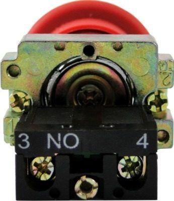 Botão Emergência Sem Retenção bloco NF LAY5-BC42 Metálico 22,5mm JNG