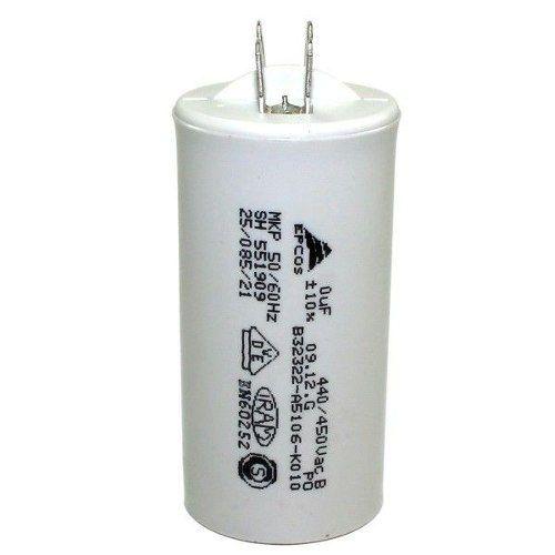 Capacitor Caneca Plástica para Motores 15UF X 440V Fast-on