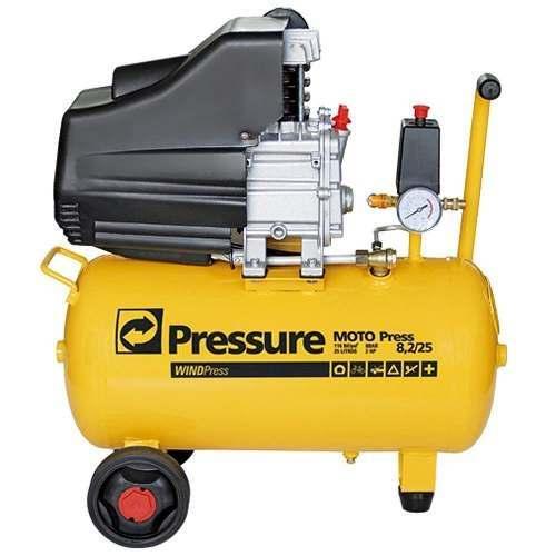 Motocompressor De Ar 8,2pcm 25 Litros Pressure WP8225I