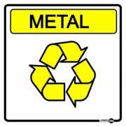 Adesivo para Sinalização Lixo Metal 18 x 18