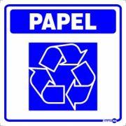 Adesivo para Sinalização Lixo Papel 18 x 18