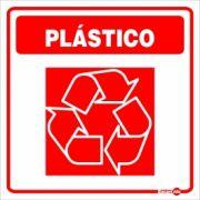 Adesivo para Sinalização Lixo Plástico 18 x 18