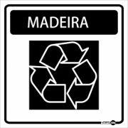 Adesivo para Sinalização Madeira 18 x 18