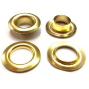 Ilhós com Arruela Ferro Dourado Nº 0 18mm de diâmetro externo