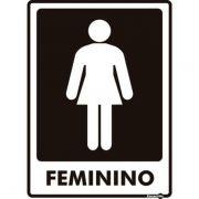 Placa PVC Banheiro Feminino 150 x 200 x 0,80mm