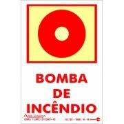 Placa PVC Bomba de Incêndio - Fotolito 100 x 150 x 0,80mm