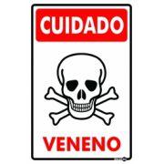 Placa PVC Cuidado Veneno 200 x 300 x 0,80mm