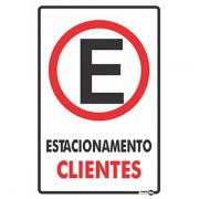 Placa PVC Estacionamento Clientes 200 x 300 x 0,80mm