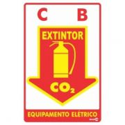 Placa PVC Extintor C0² 20 x 30 x 0,80mm