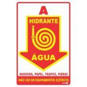 Placa PVC Hidrante Água 200 x 300 x 0,80mm