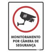 Placa PVC Monitoramento por Câmera de Segurança 150 x 200 x 0,80mm