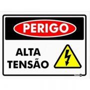 Placa PVC Perigo Alta Tensão 200 x 150 x 0,80mm