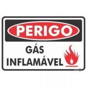 Placa PVC Perigo Gás Inflamável 300 x 200 x 0,80mm