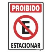 Placa PVC Proibido Estacionar 200 x 300 x 0,80mm