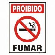 Placa PVC Proibido Fumar - Tamanho Variado
