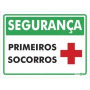 Placa PVC Segurança Primeiros Socorros 150 x 200 x 0,8mm