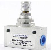 Válvula Controle de Fluxo Rosca 1/4 BSP/NPT 6103CF Werk Schott