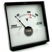 Voltímetro Analógico Frontal 65 x 65 QR65 Renz - Diversas Voltagens