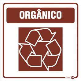 Adesivo para Sinalização Lixo Orgânico 18 x 18