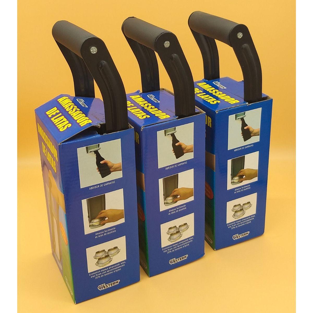 Amassador de Latas Kit com 3 unidades