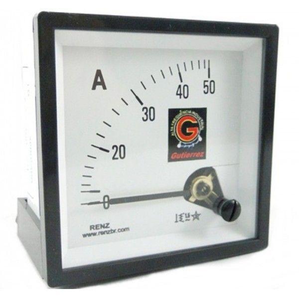 Amperímetro Analógico de 50/5 á 600/5 Frontal 72 x 72 FM72 ligar com TC-RH78 Renz