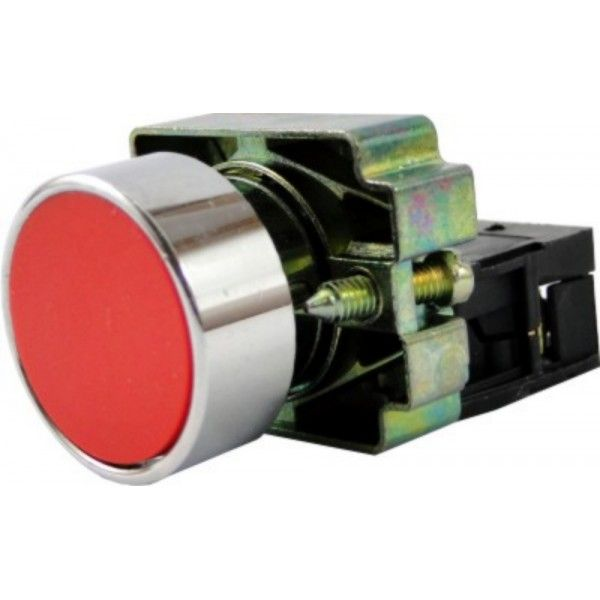 Botão de comando faceado metálico bloco NA LAY5-BA 22mm JNG - Cores Variadas