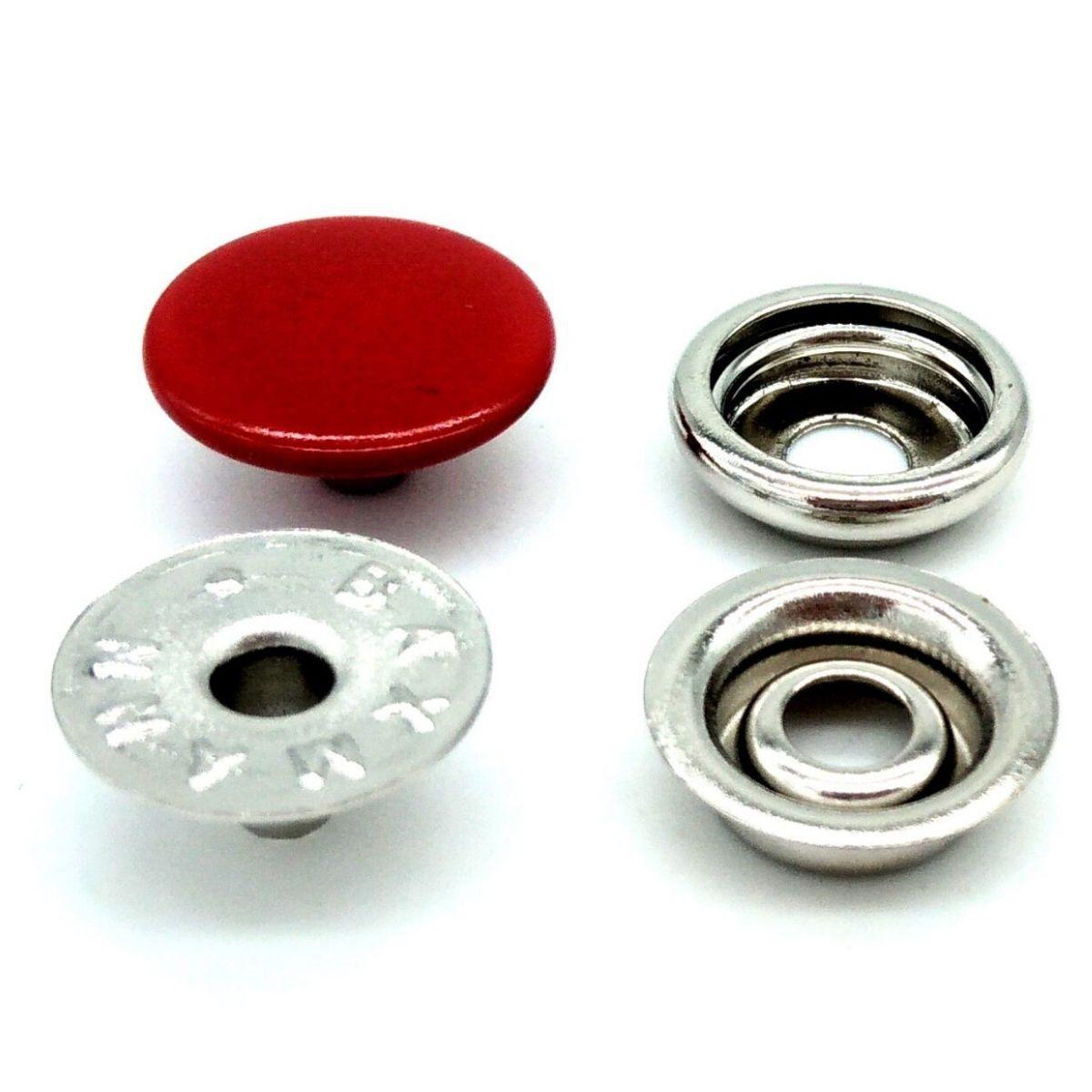 Botão de Pressão Nº 100 Ferro Vermelho